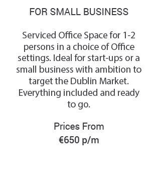Serviced Office in Dublin from €650 Details